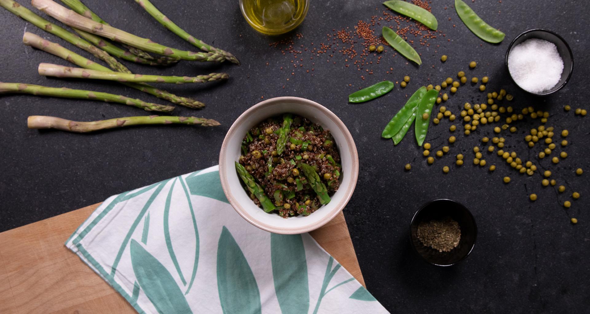 Quinoa negra con verduras